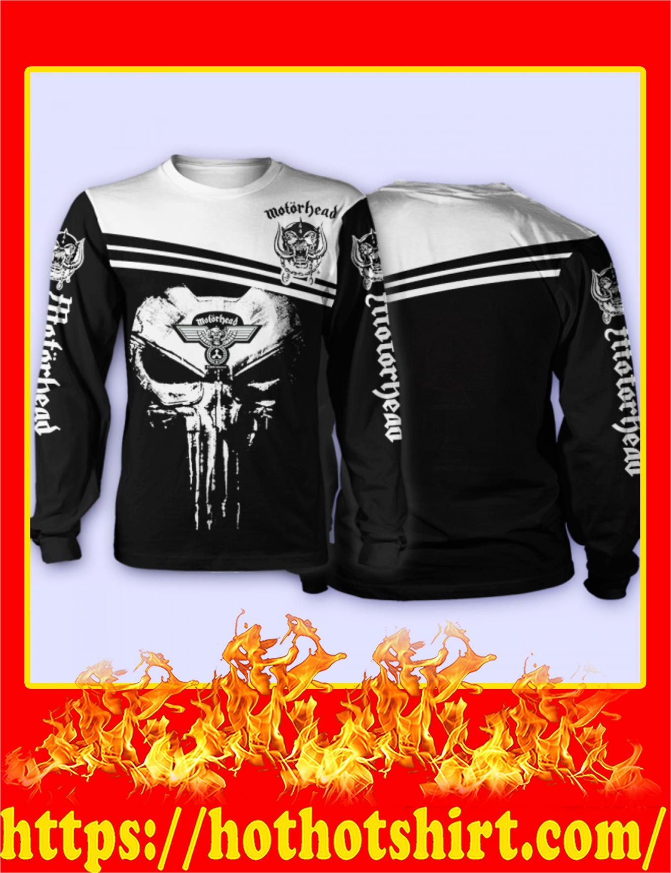 Motorhead Punisher Skull 3D Long Sleeved Shirt