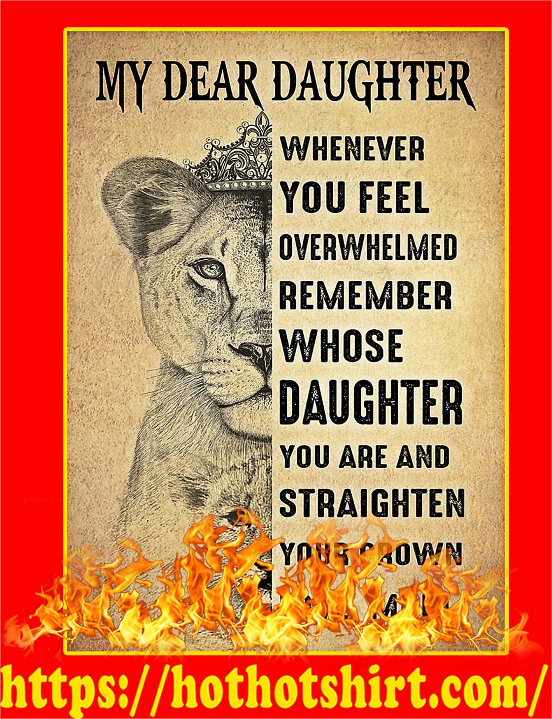 My Dear Daughter Lion Poster - A4