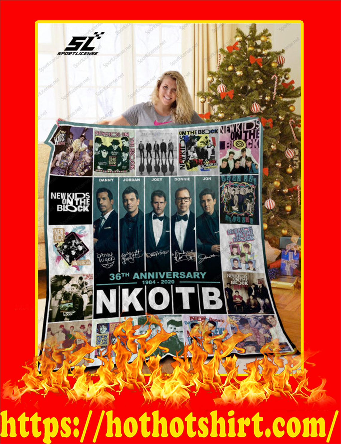NKOTB 36th Anniversary 1984 2020 Quilt Blanket - super king