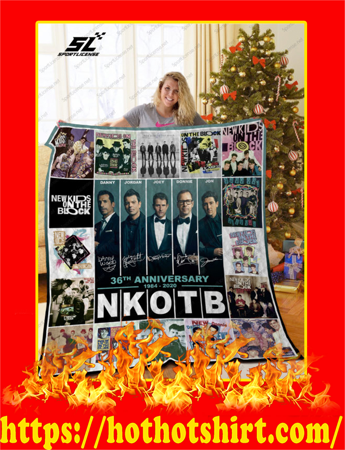 NKOTB 36th Anniversary 1984 2020 Quilt Blanket - twin