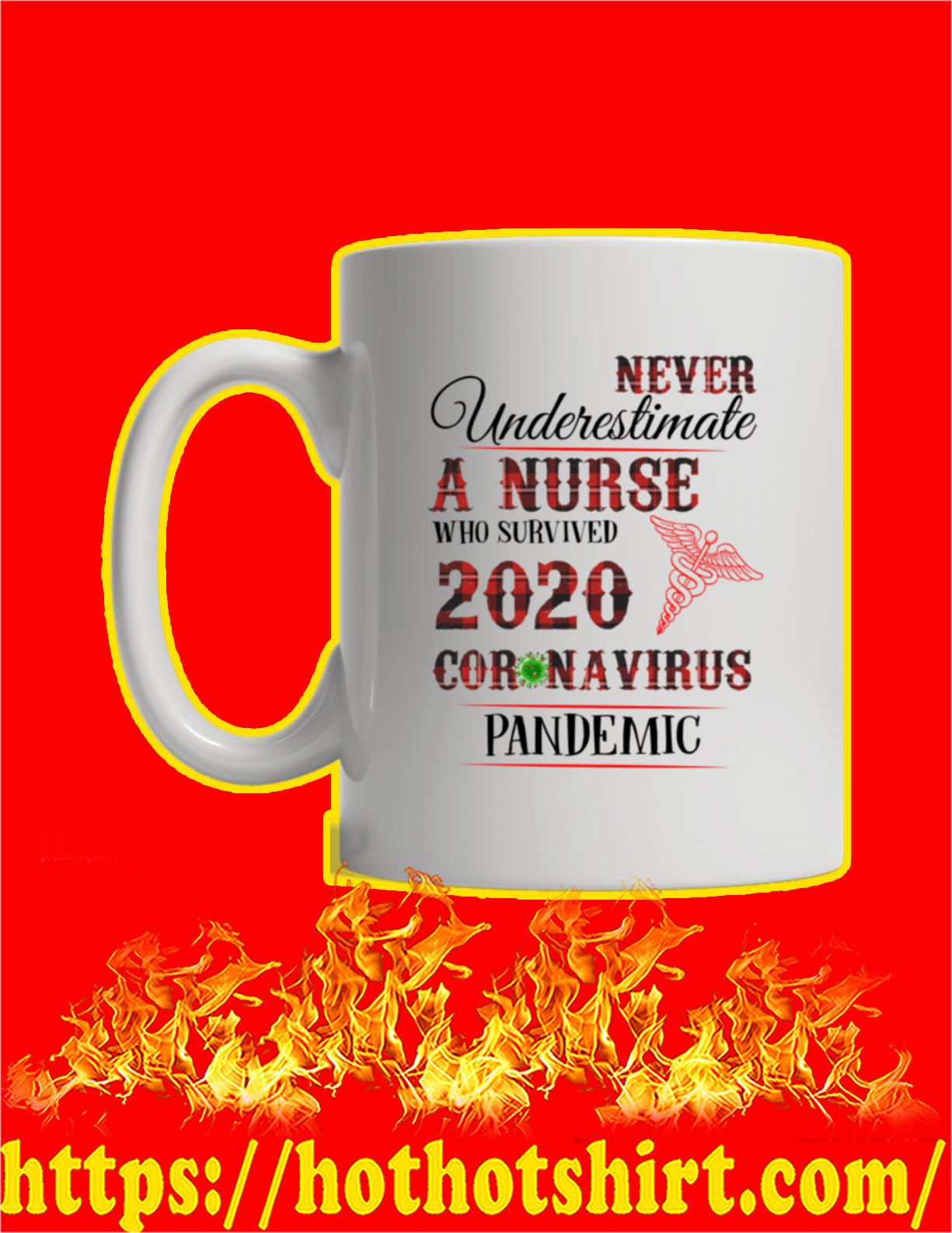 Never Underestimate A Nurse Who Survived 2020 Coronavirus Pandemic Mug