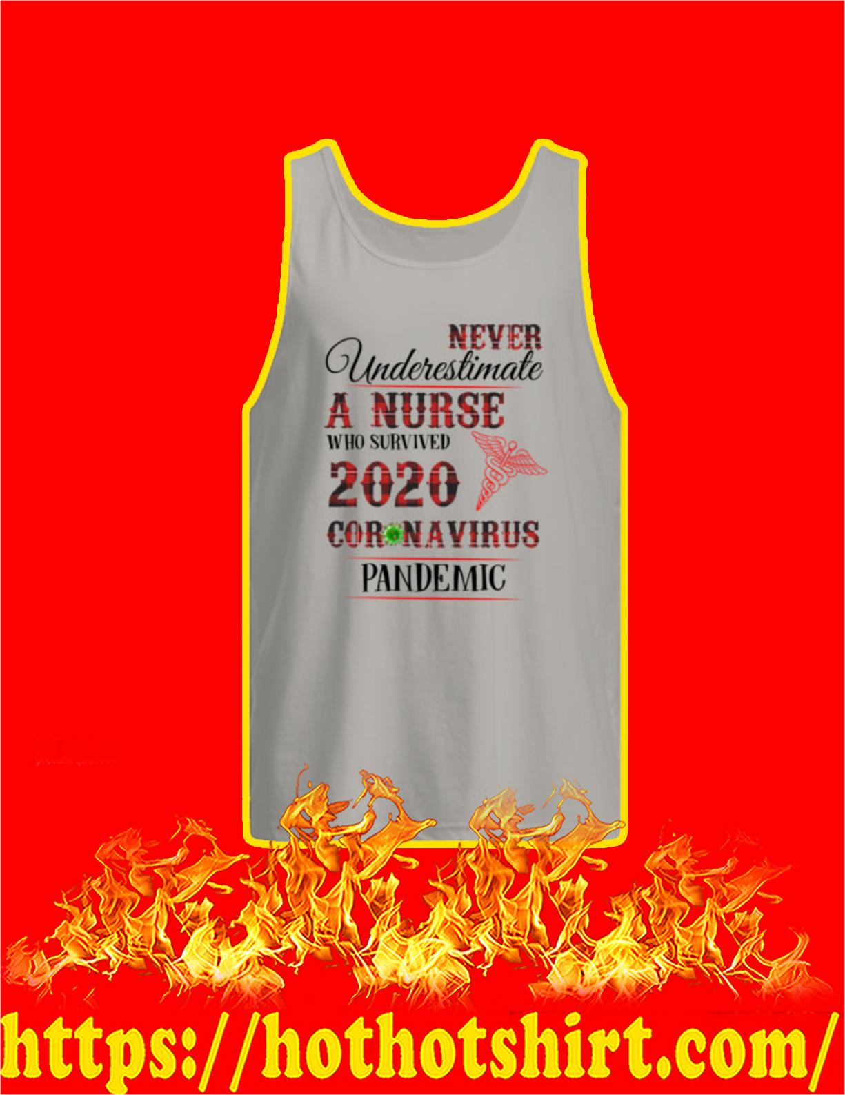 Never Underestimate A Nurse Who Survived 2020 Coronavirus Pandemic Tank Top