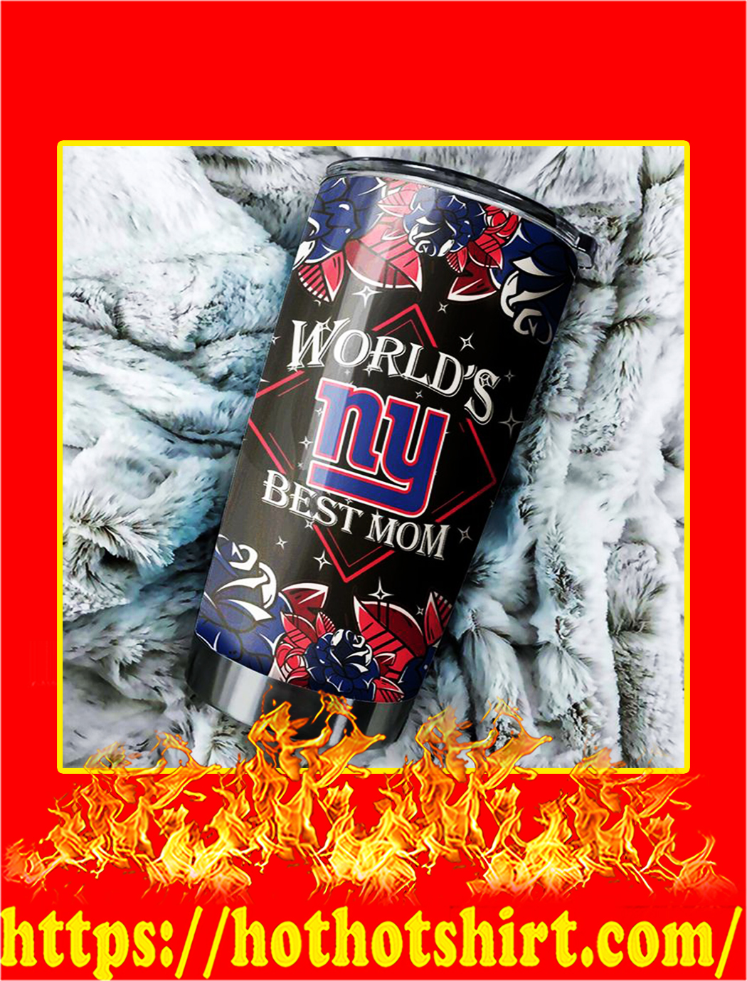 New York Giants World's Best Mom Tumbler- 20 oz