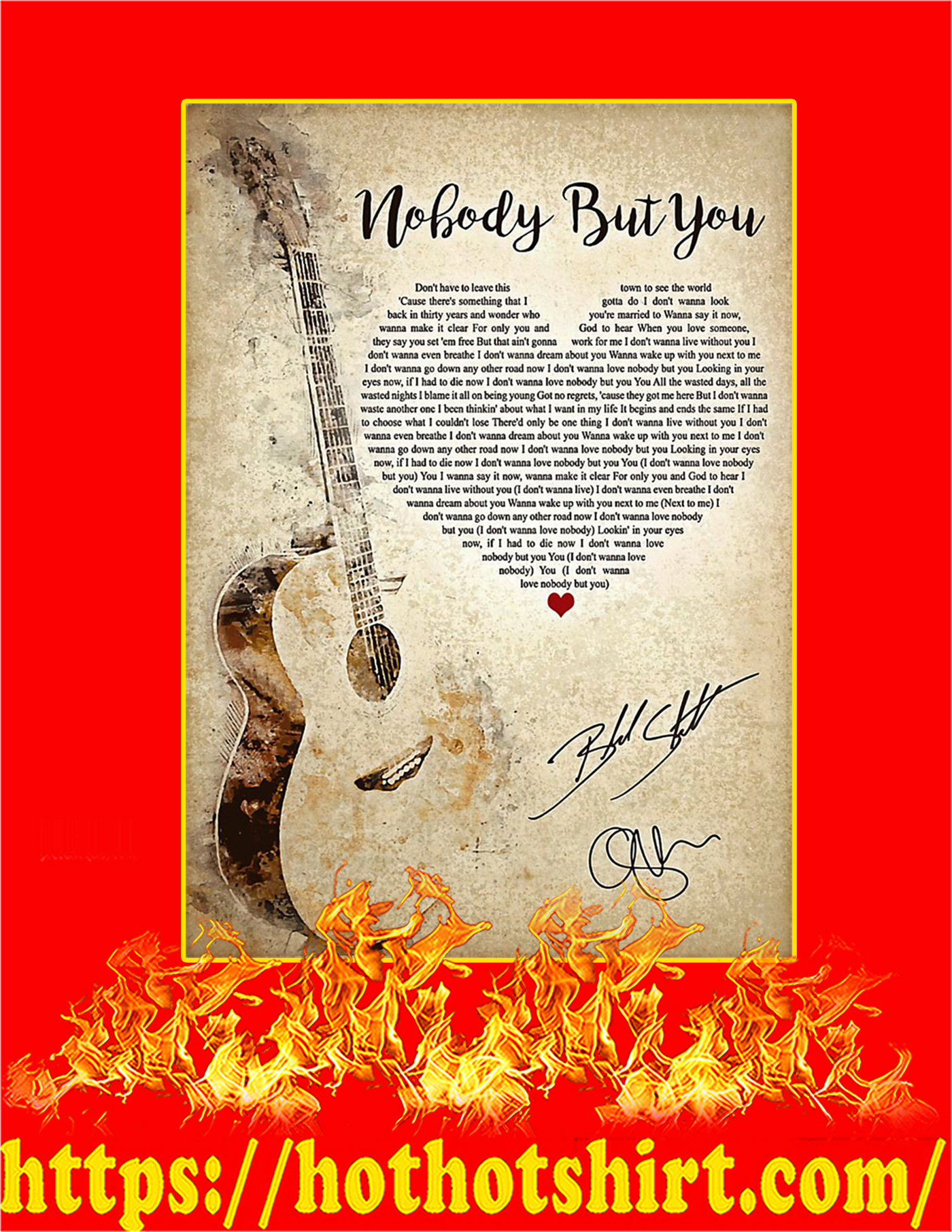 Nobody But You Signature Poster - A2