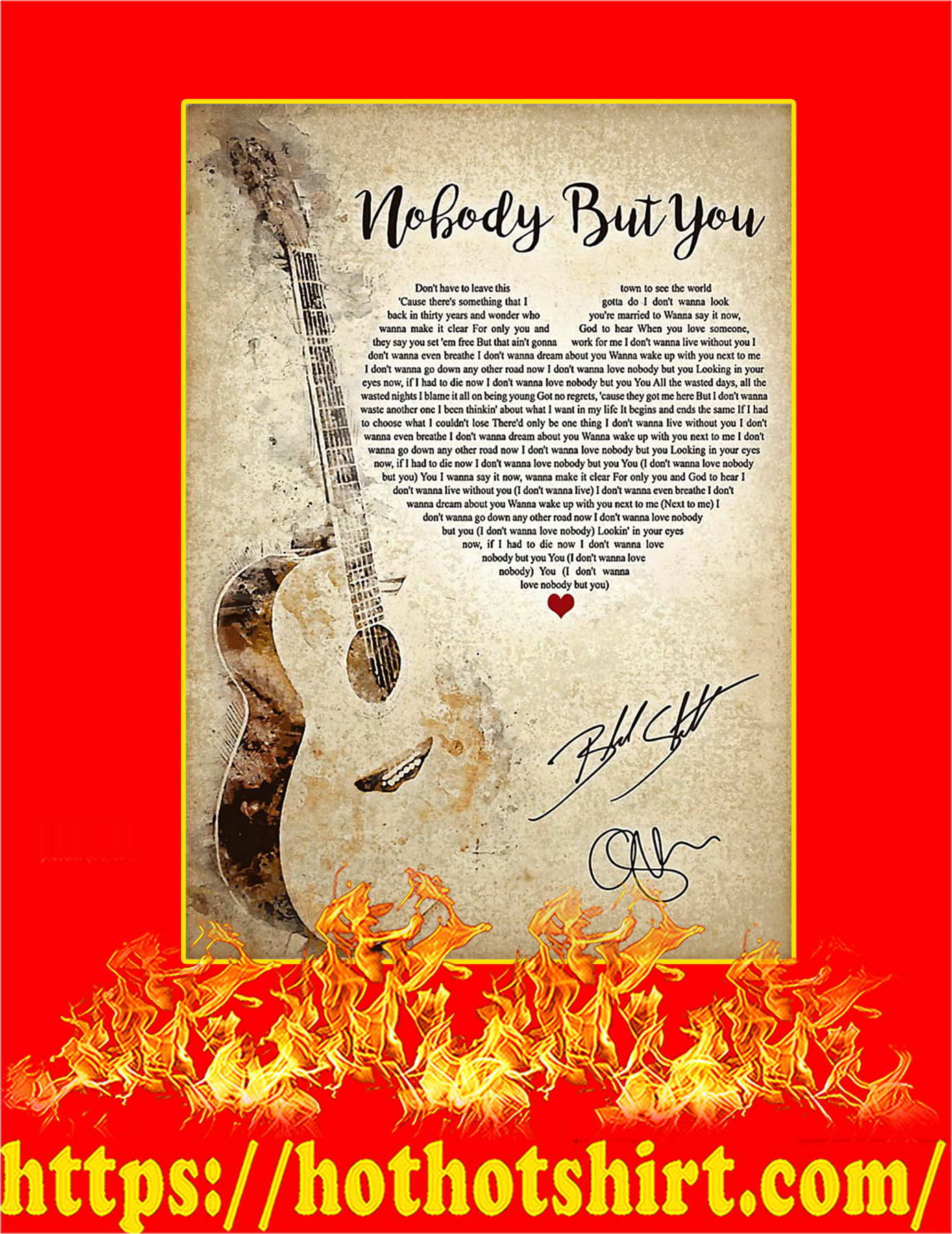 Nobody But You Signature Poster - A3