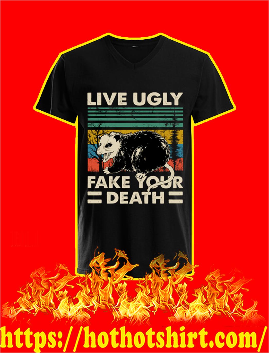 Opossum Live Ugly Fake Your Death Vintage v-neck