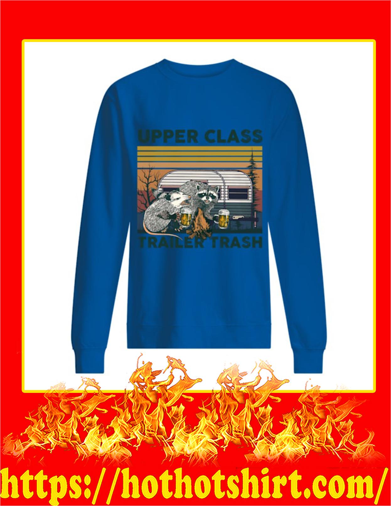 Opossum and Raccoon Upper Class Trailer Trash Vintage Sweatshirt