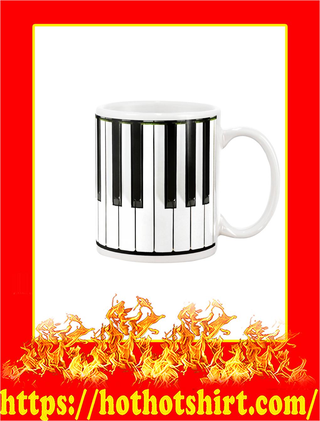Pianist Piano Keys Mug - white