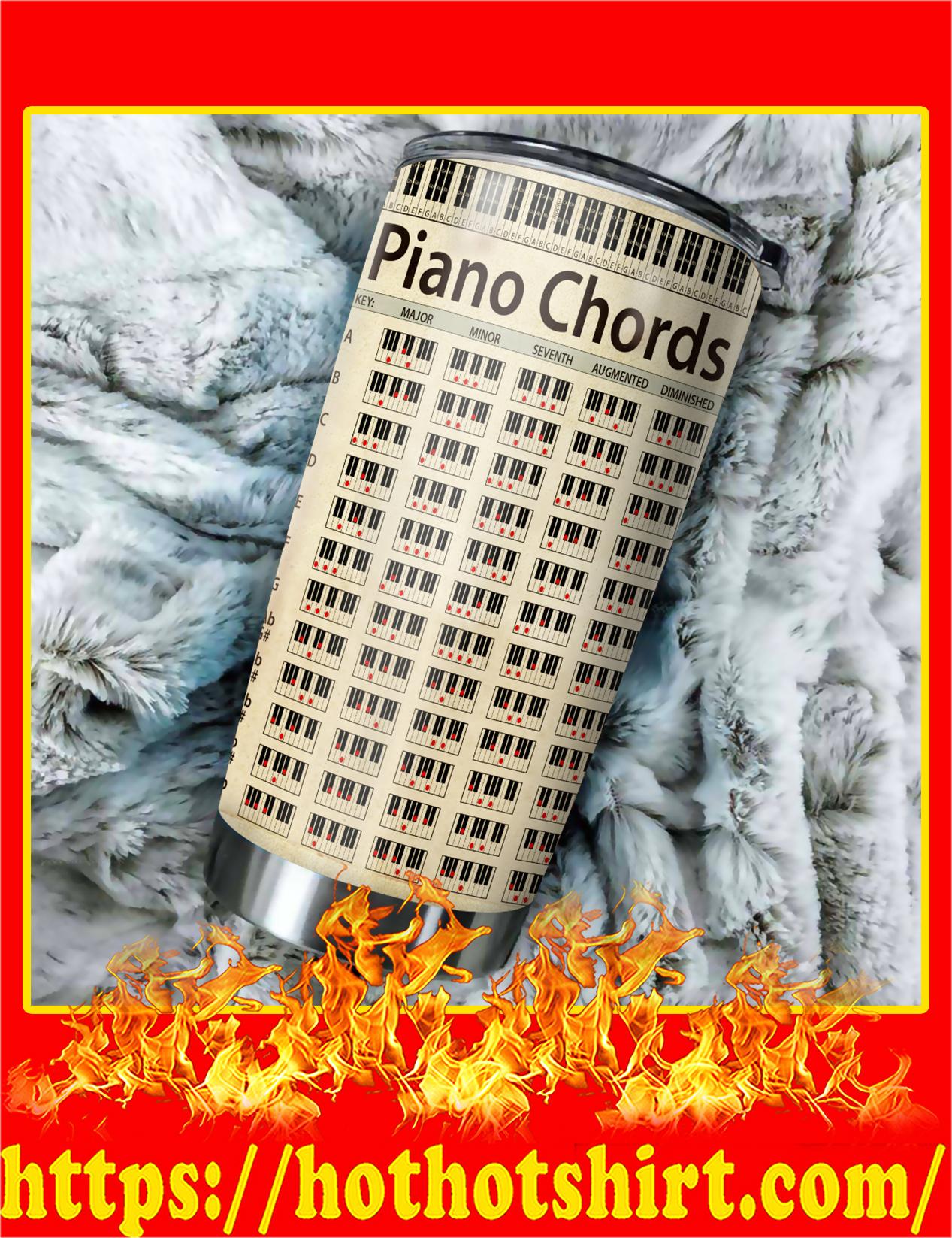 Piano Chords Beautiful Tumbler
