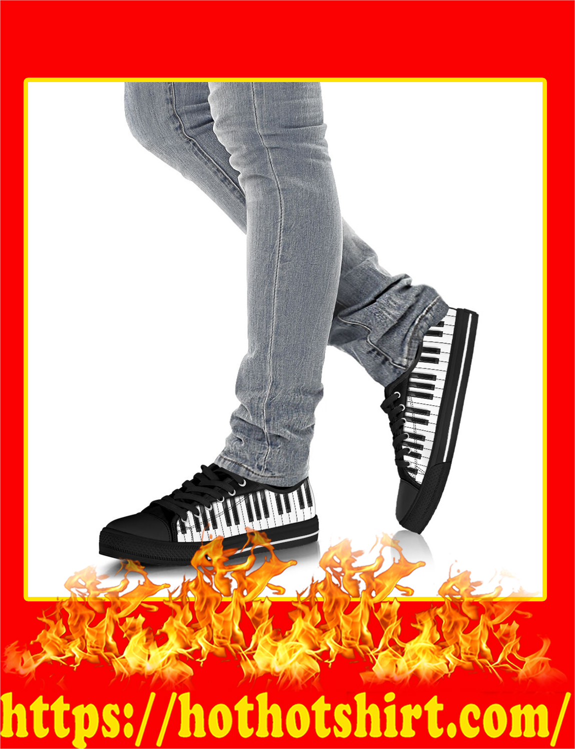Piano Keyboard Shortcut Low Top Shoes- pic 3
