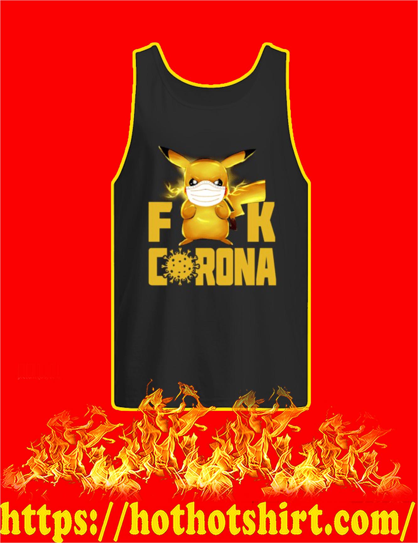 Pikachu fuck corona 2020 Tank Top