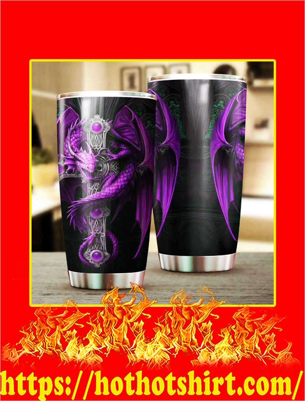 Purple Dragon and Dungeon Tattoo Tumbler- 20 oz