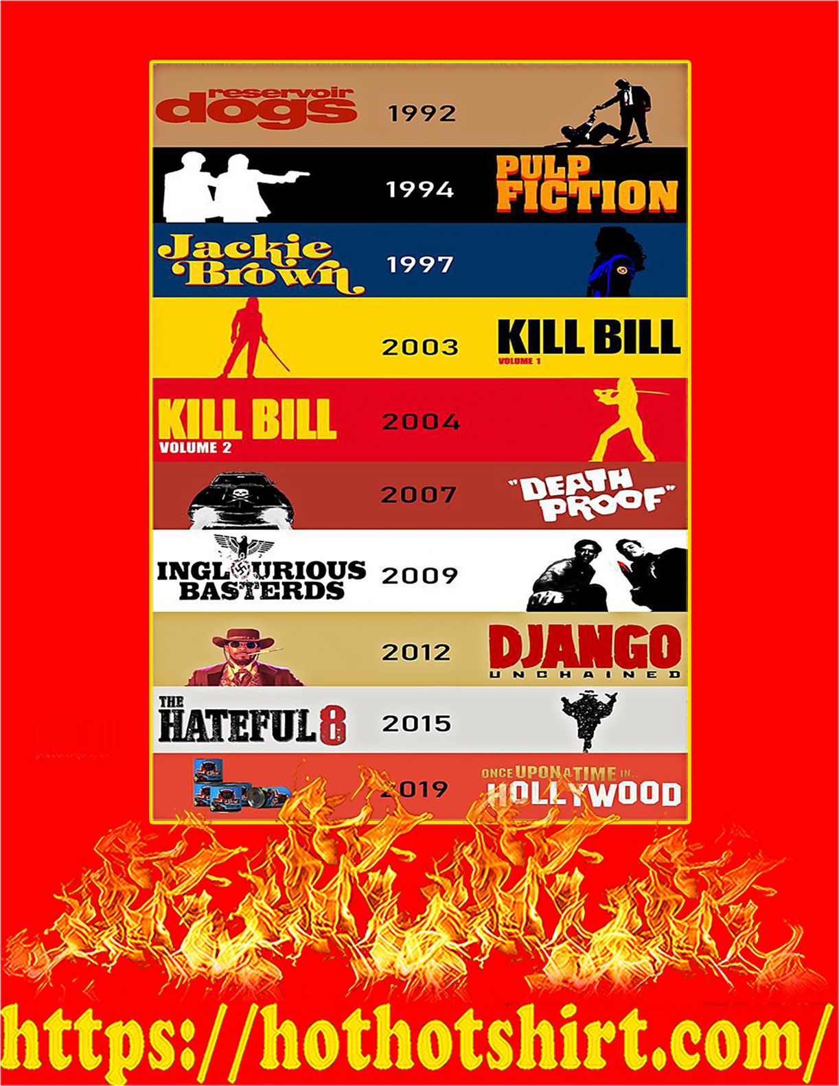 Quentin Tarantino movies reservoir dogs 1992 poster - A3