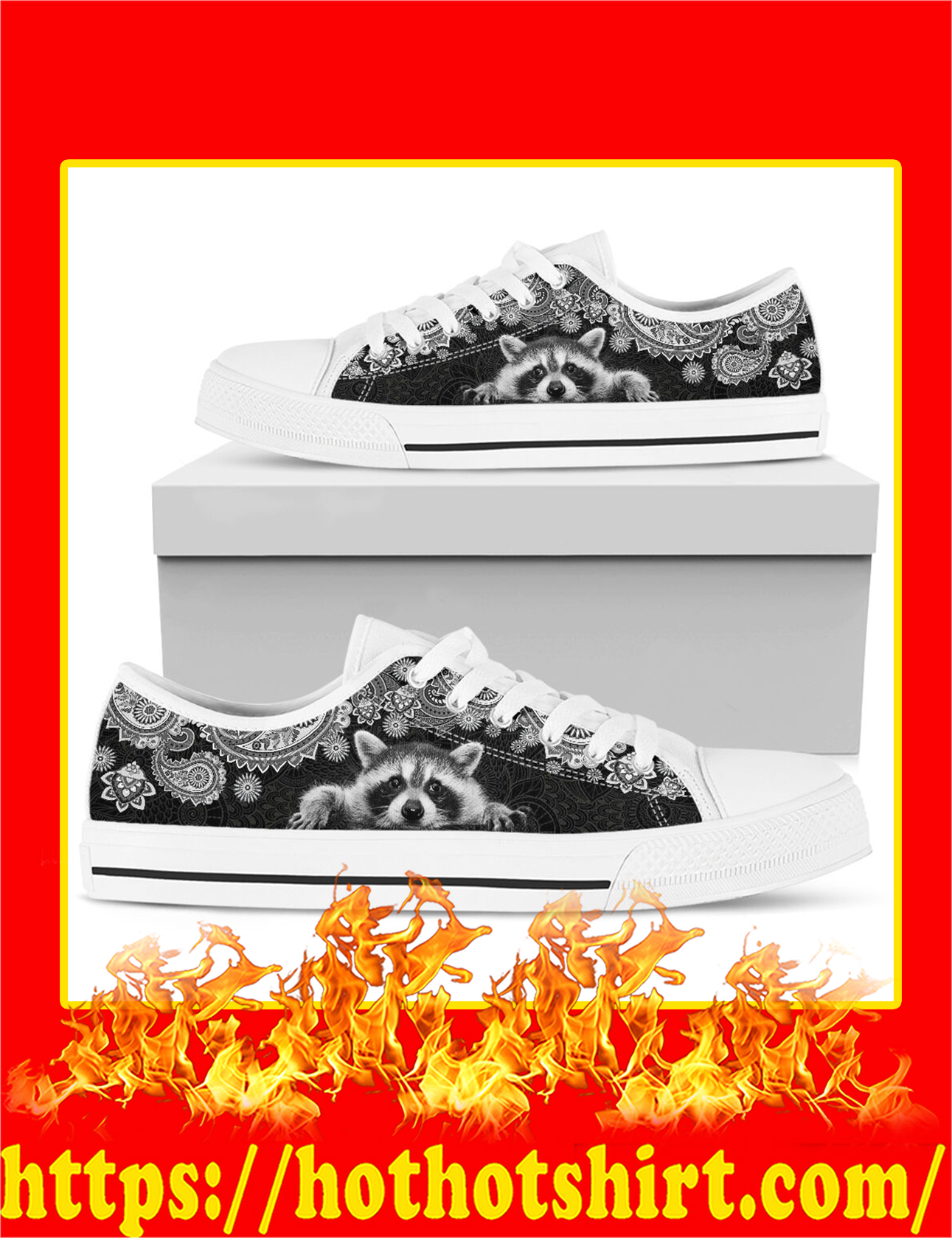 Raccoon Low Top Shoes - Pic 1
