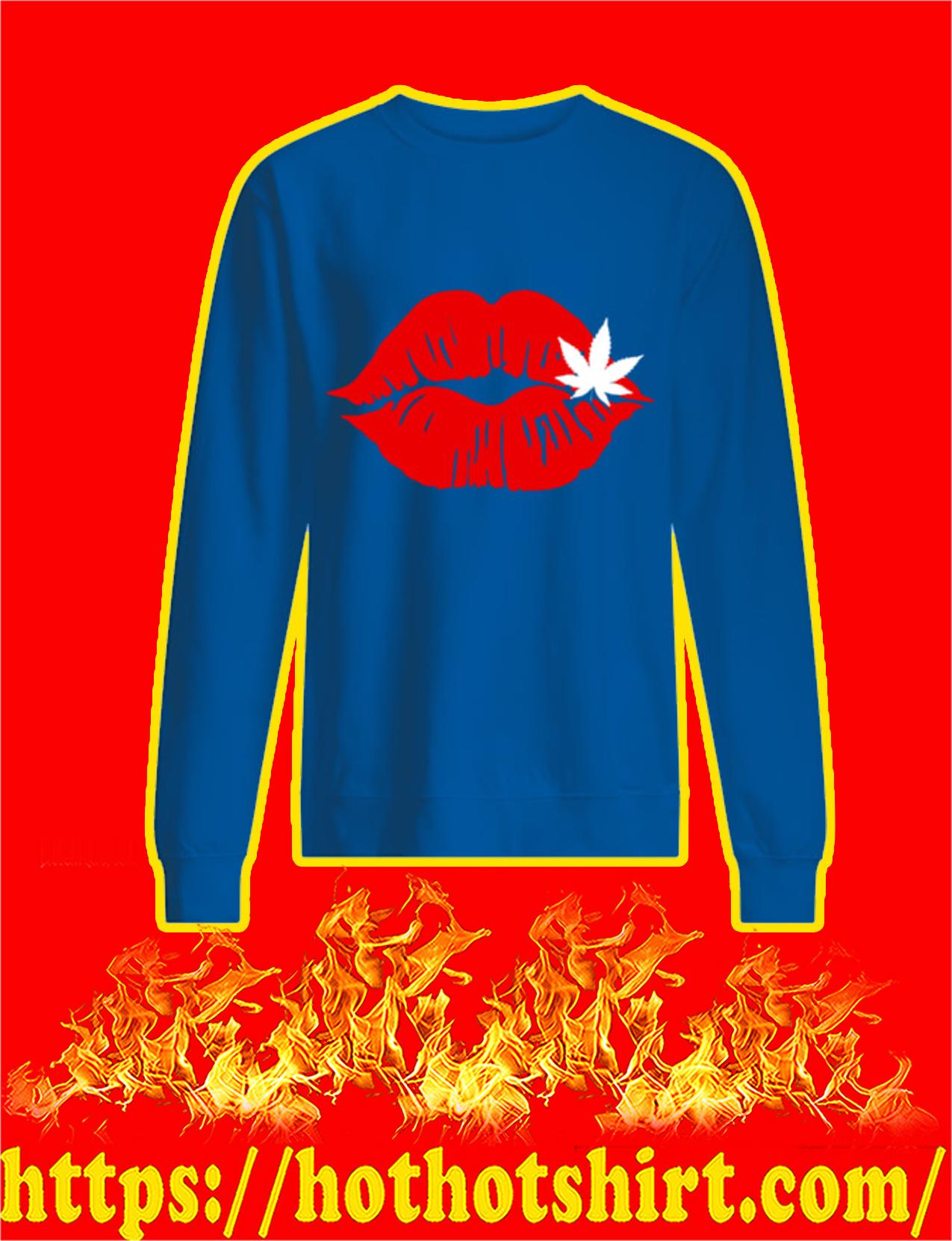 Red Lips Cannabis Sweatshirt