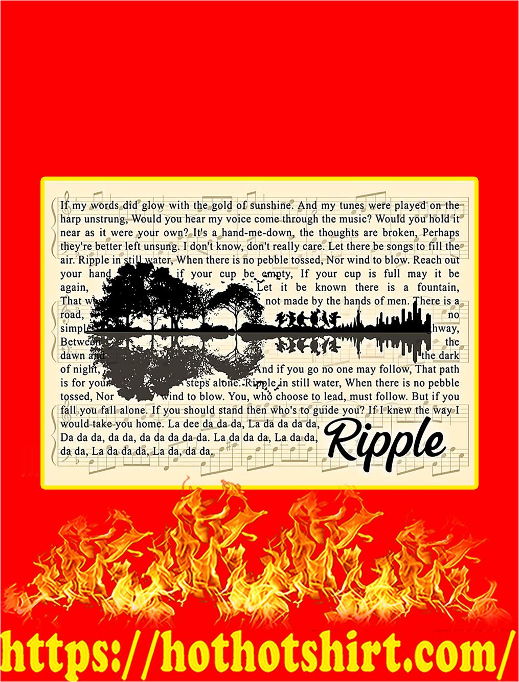 Ripple Grateful Dead Guitar Poster - A4
