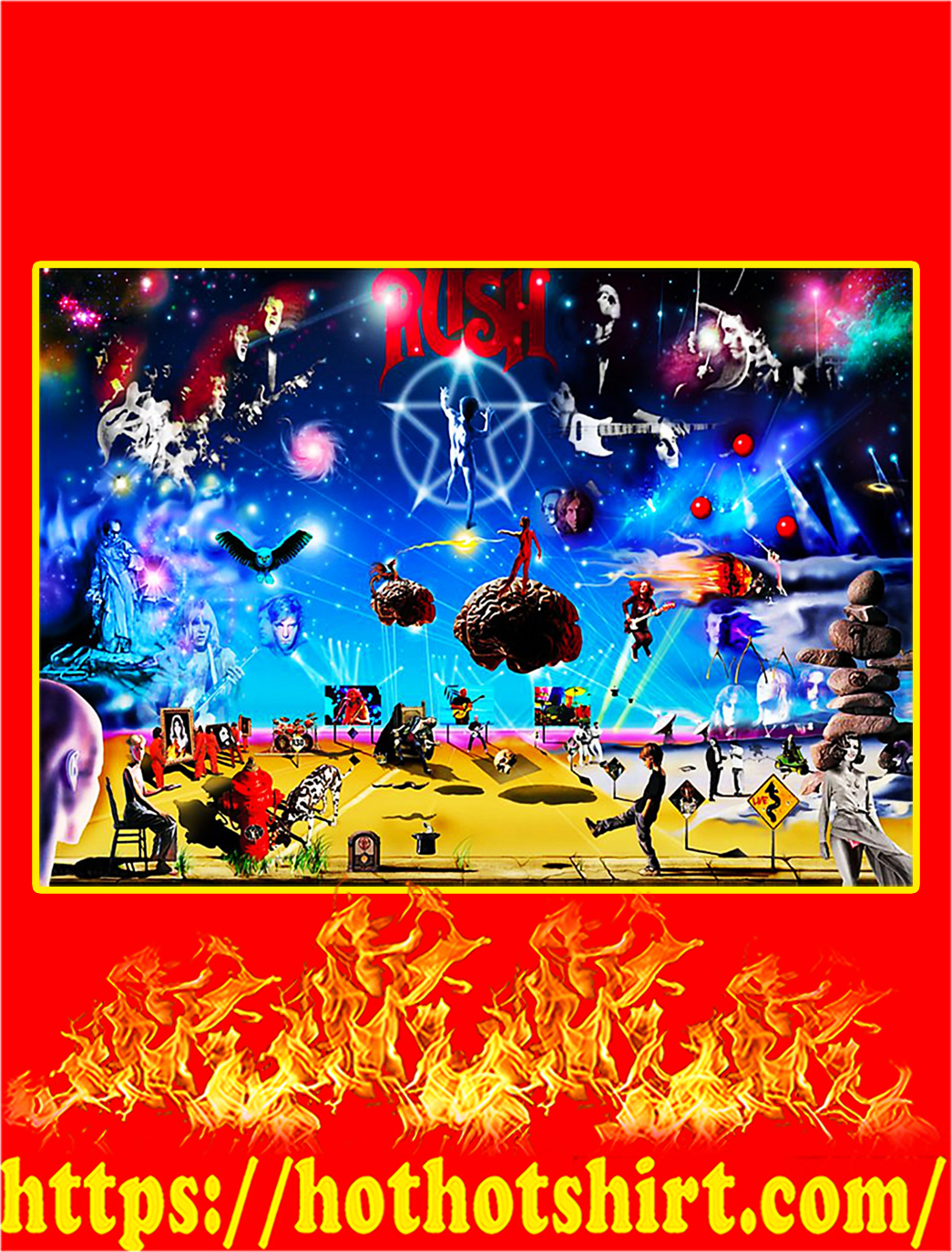 Rush All Album Poster - A1