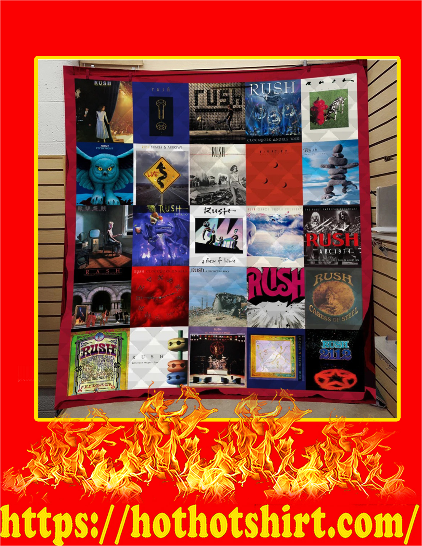 Rush Band Thank You For The Memories Signature Quilt Blanket - King