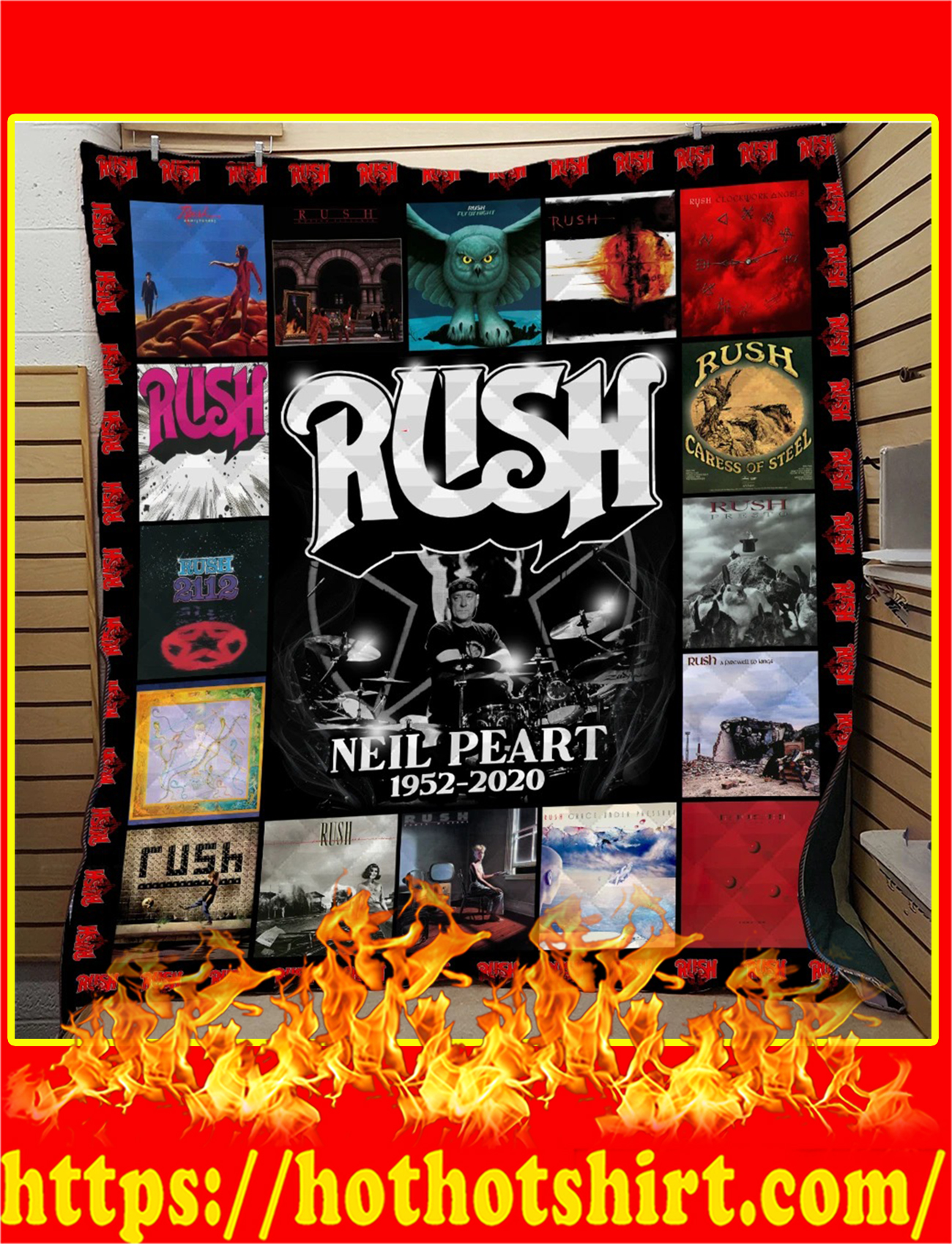 Rush Neil Peart 1952 2020 Quilt-twin