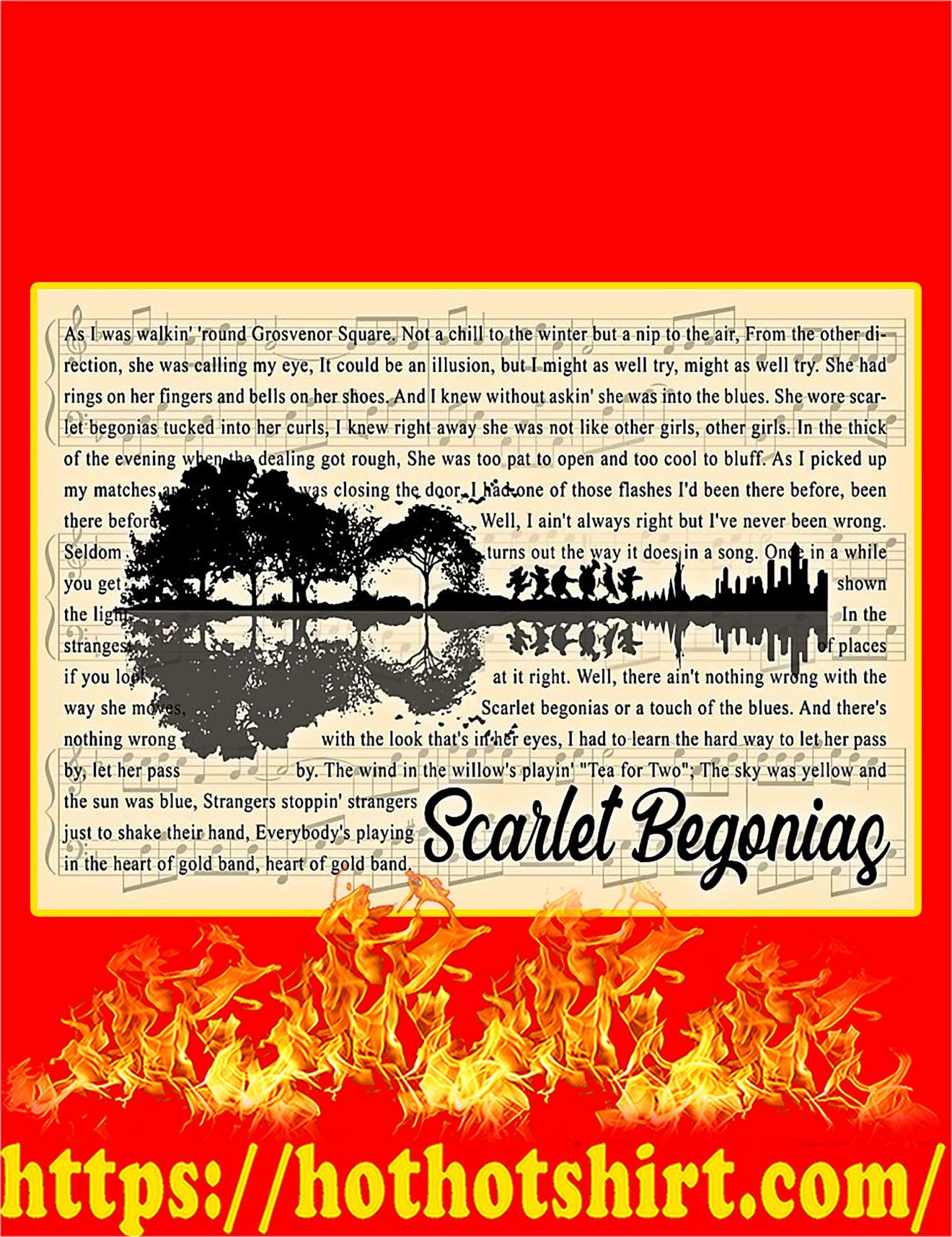 Scarlet Begonias Guitar Poster