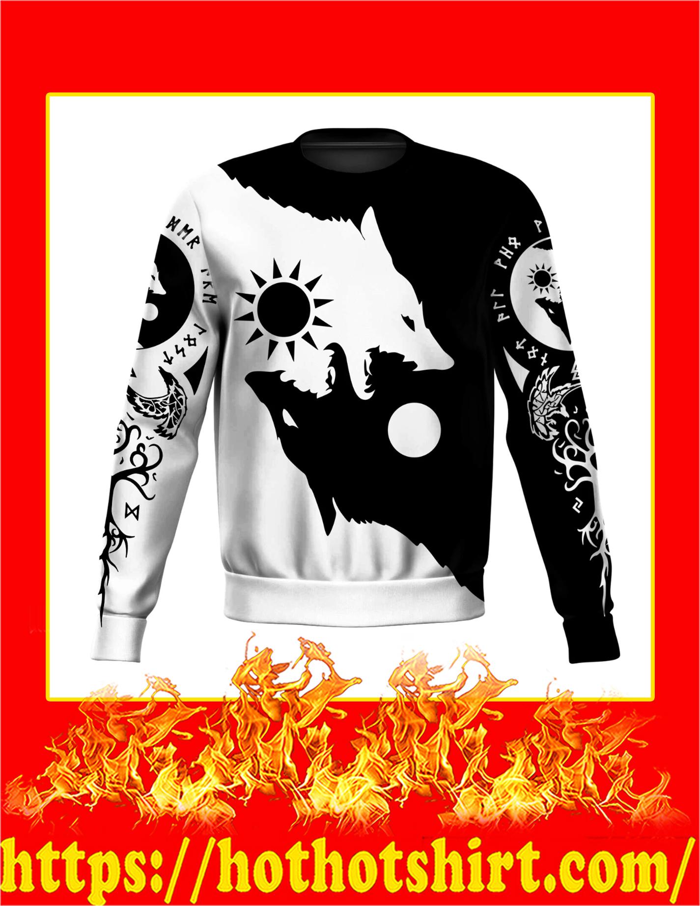 Skoll and Hati 3D All Over Printed Sweatshirt