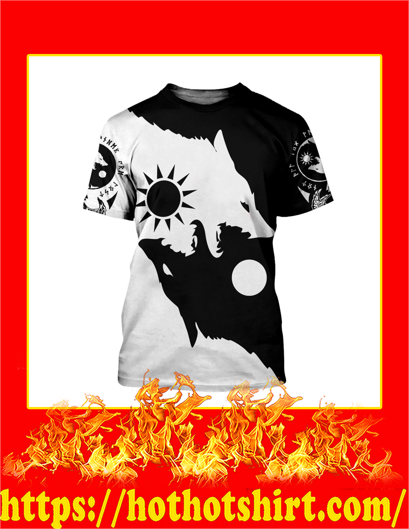 Skoll and Hati 3D All Over Printed T-Shirt