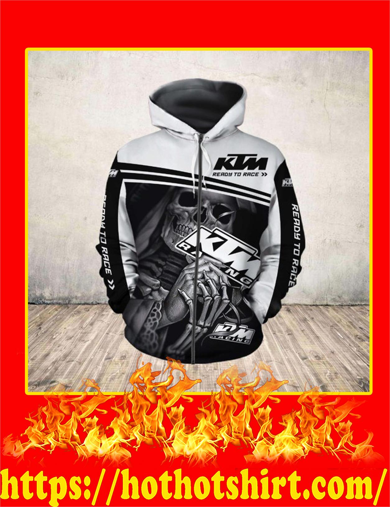 Skull Death Hug KTM 3D zip hoodie