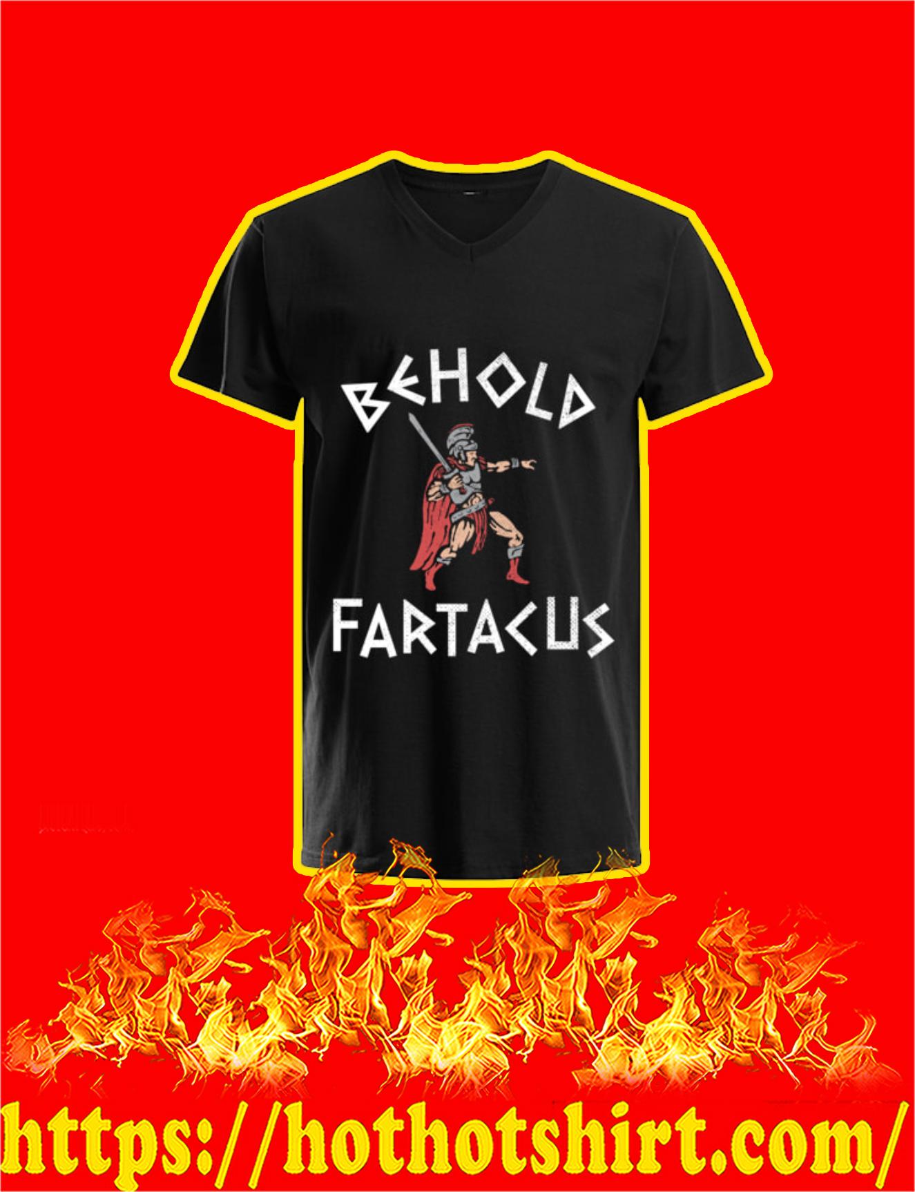 Spartan Behold Fartacus V-Neck