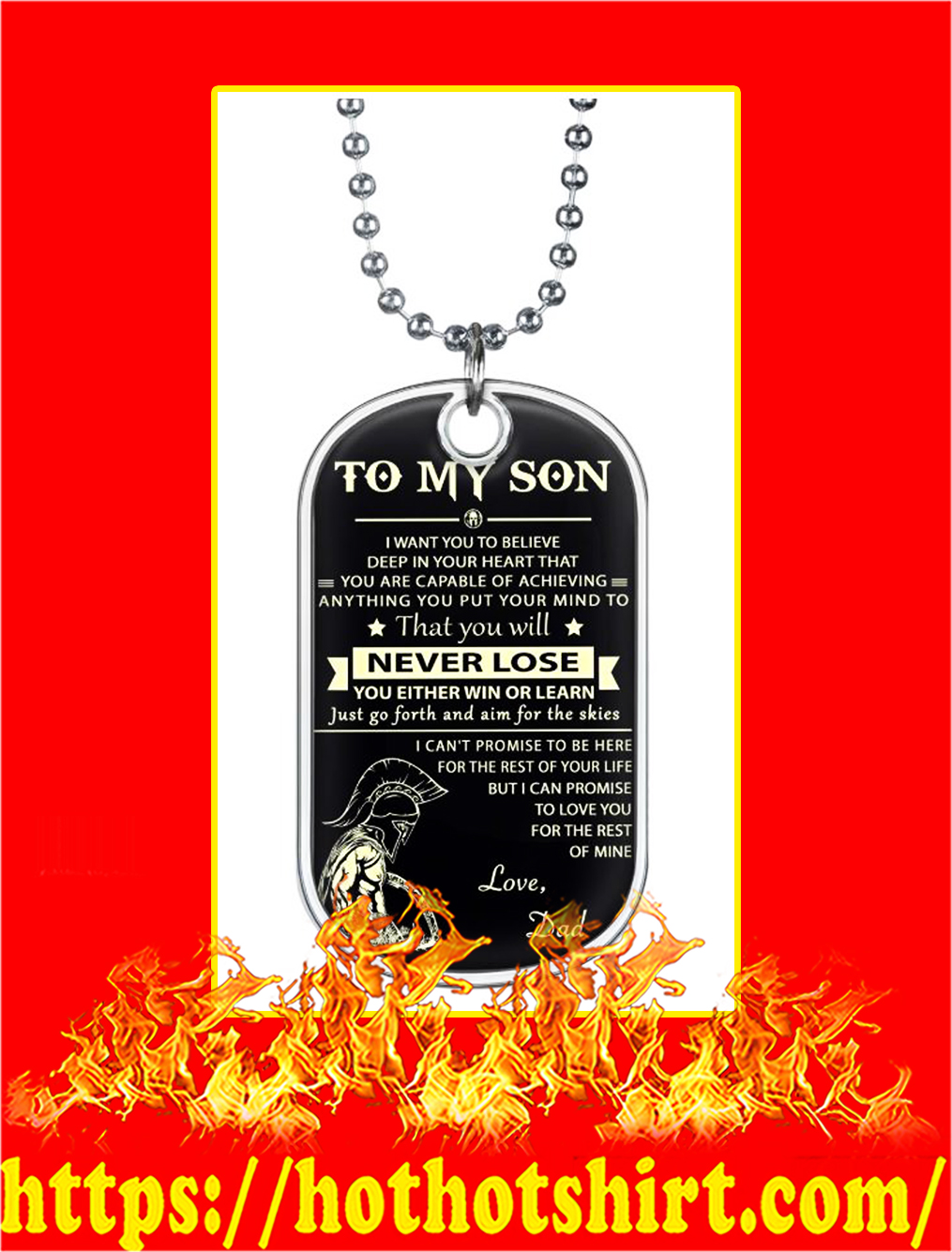Spartan To My Son Dog Tag - picture 1