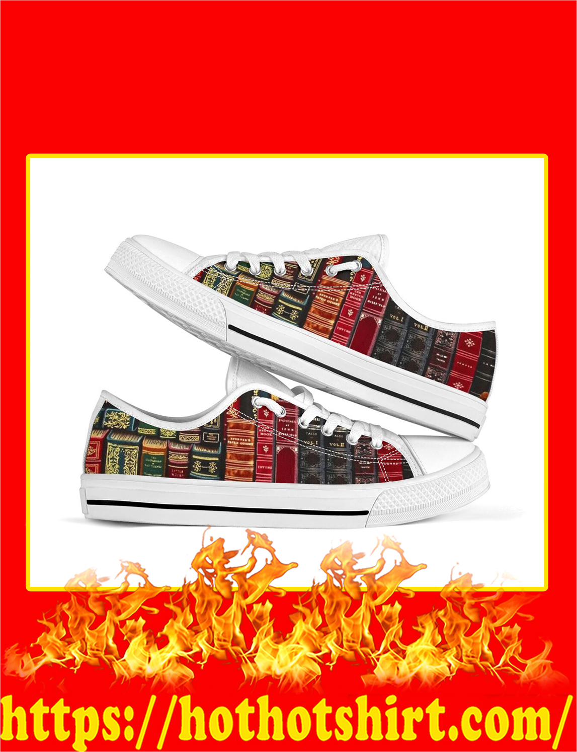 Spine Book Low Top Shoes- pic 1
