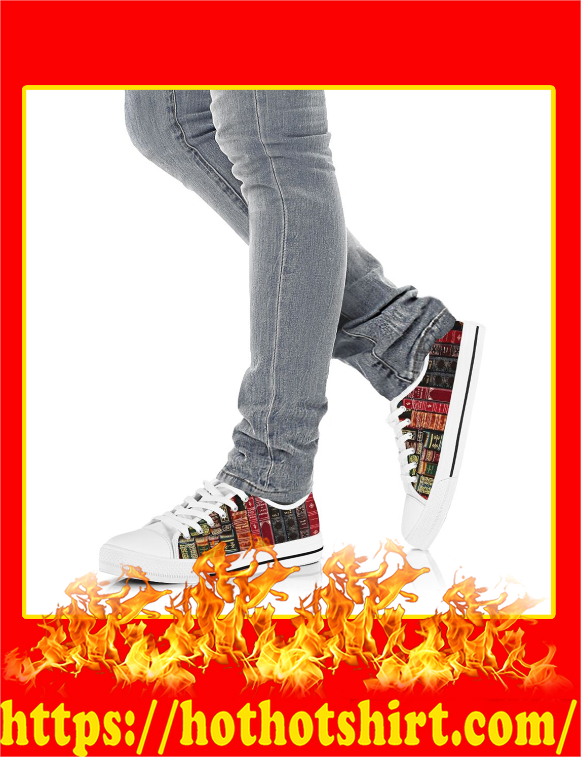 Spine Book Low Top Shoes- pic 3