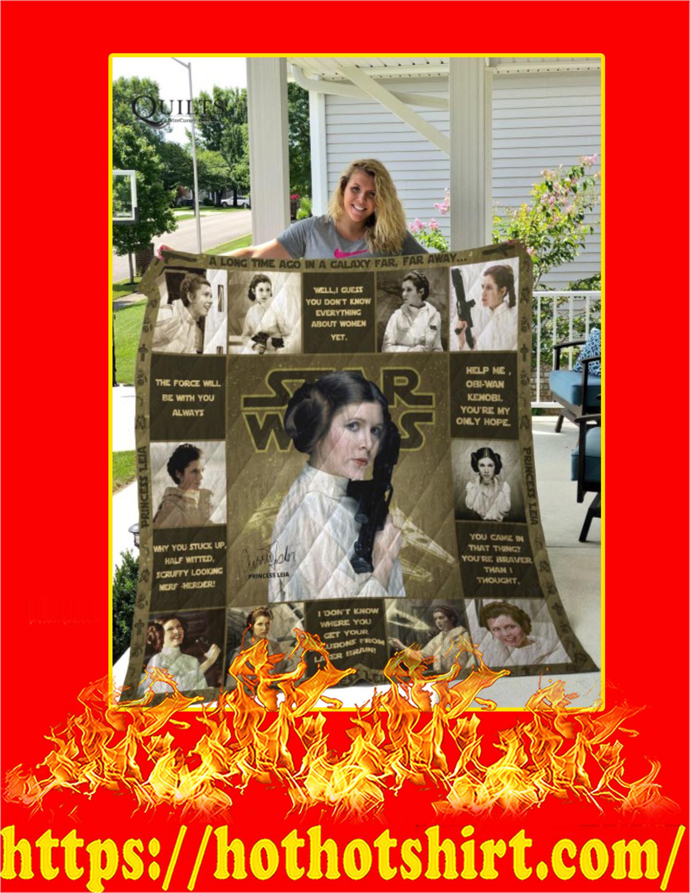 Star Wars Princess Leia Quilt Blanket - Queen