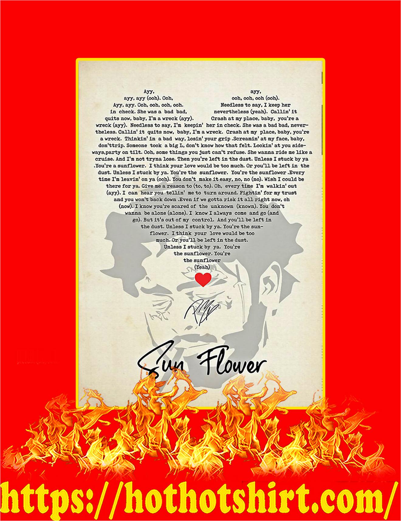 Sun Flower Signature Poster - A2