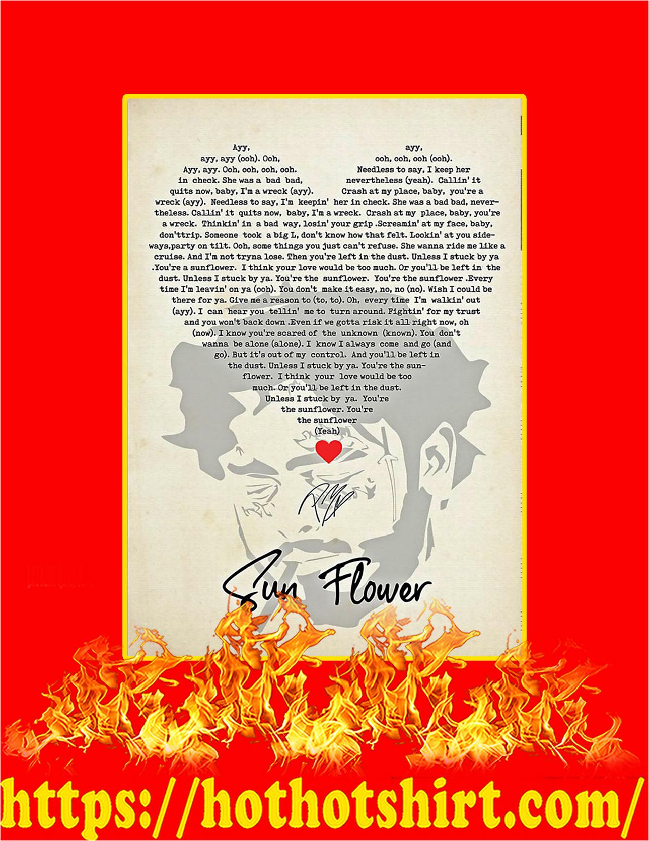 Sun Flower Signature Poster - A3