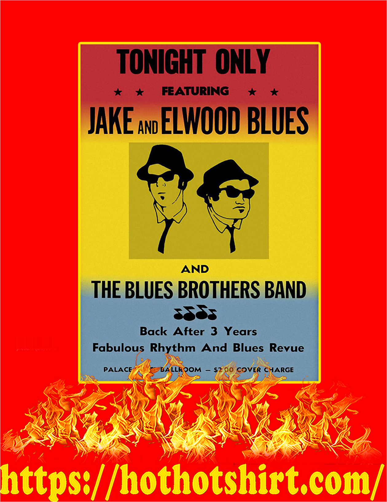 The Blues Brothers Band Poster - A3