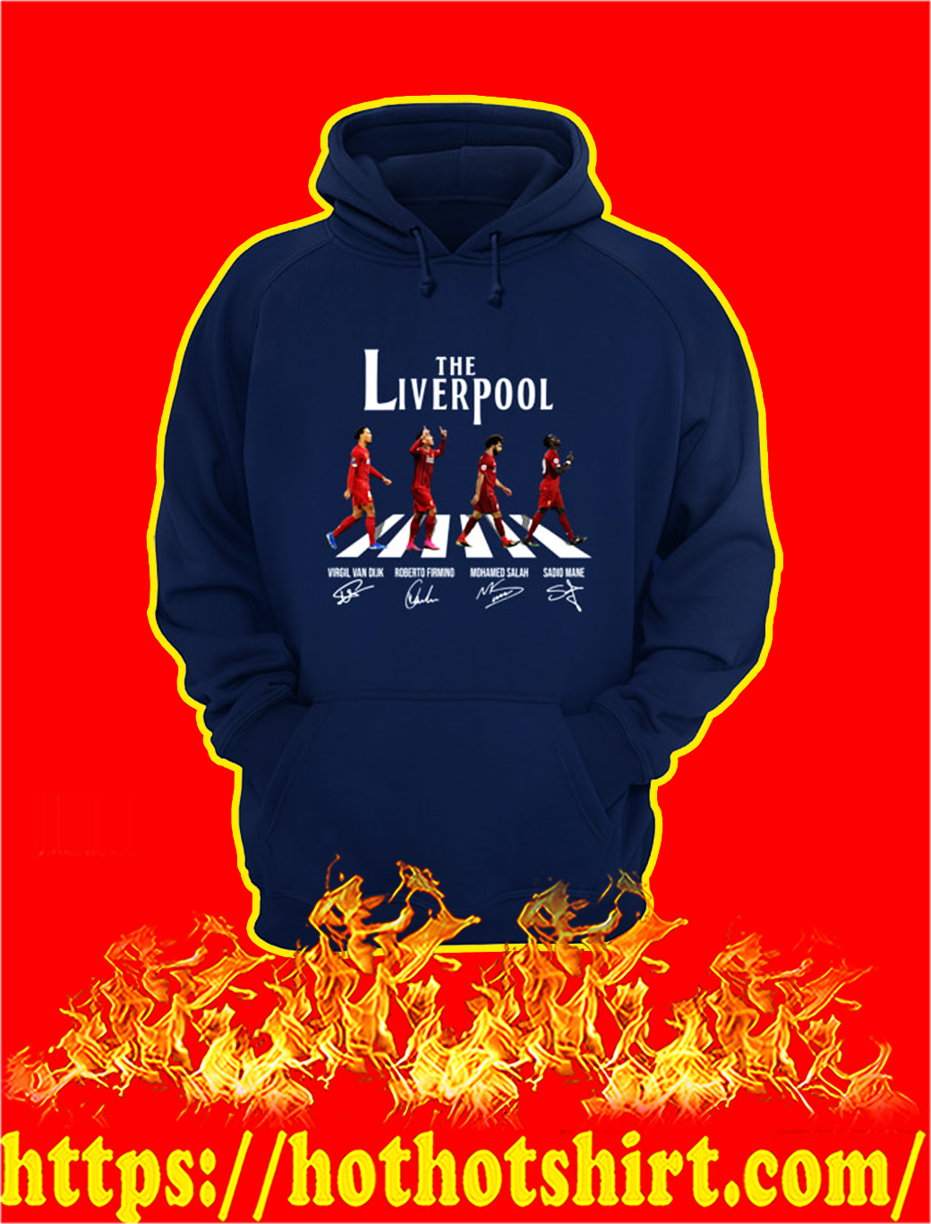 The Liverpool Abbey Road Virgin Firmino Salah Mane Signature hoodie