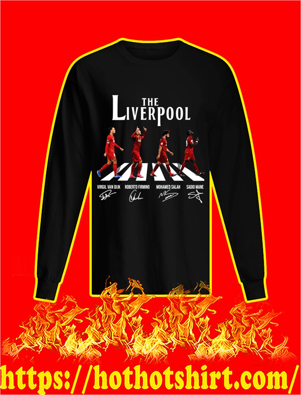 The Liverpool Abbey Road Virgin Firmino Salah Mane Signature longsleeve tee
