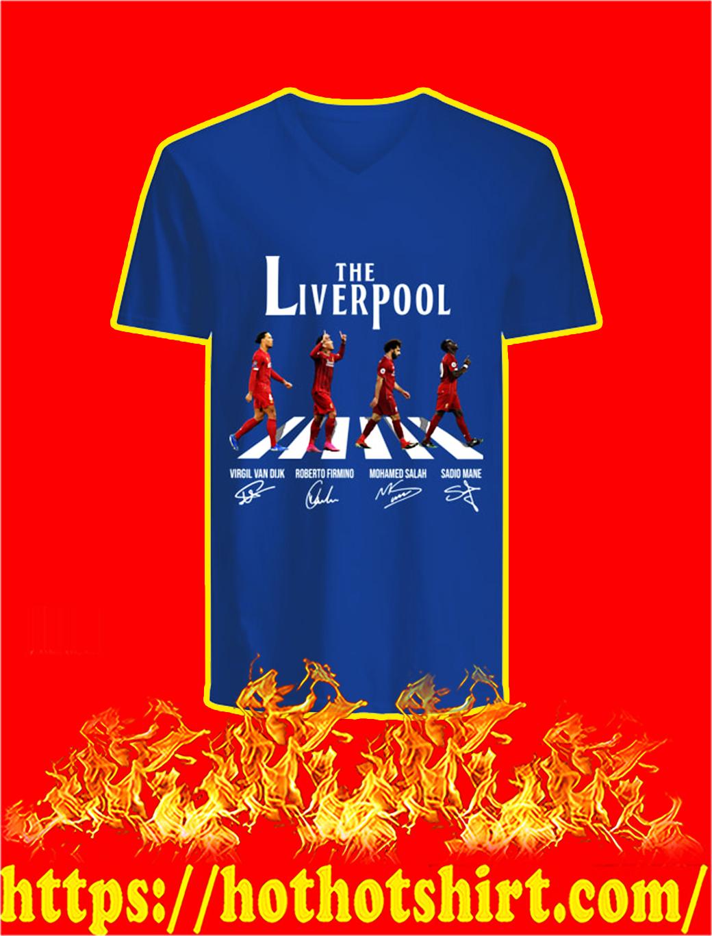 The Liverpool Abbey Road Virgin Firmino Salah Mane Signature v-neck