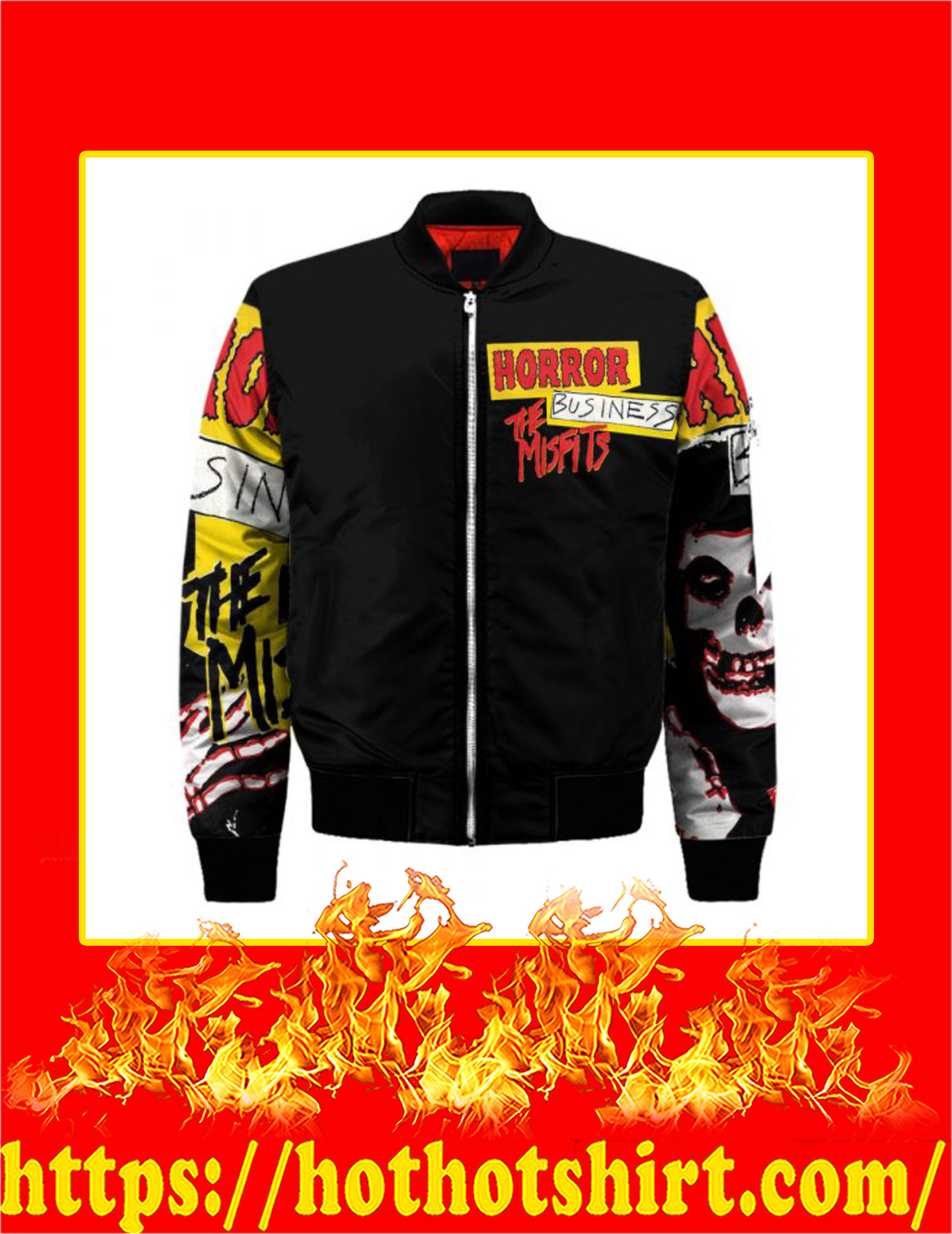 The Misfits Horror Business 3d Bomber - Front