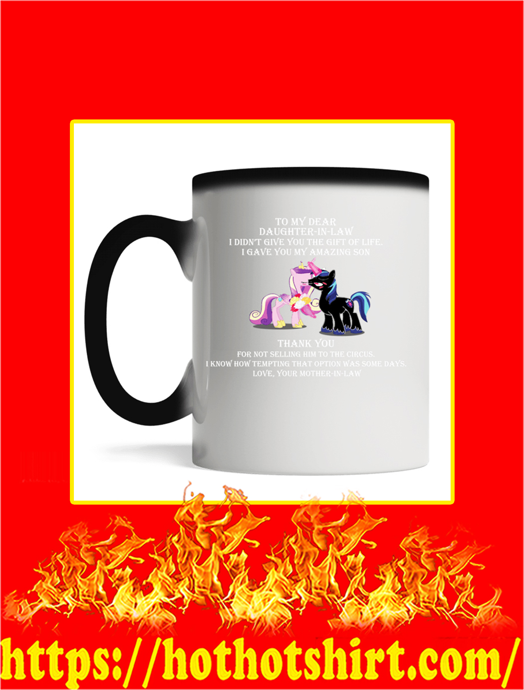 To My Dear Daughter In Law Unicorn Mug- magic mug