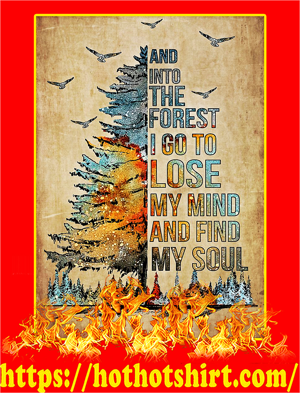 Tree And into the forest Poster - A4