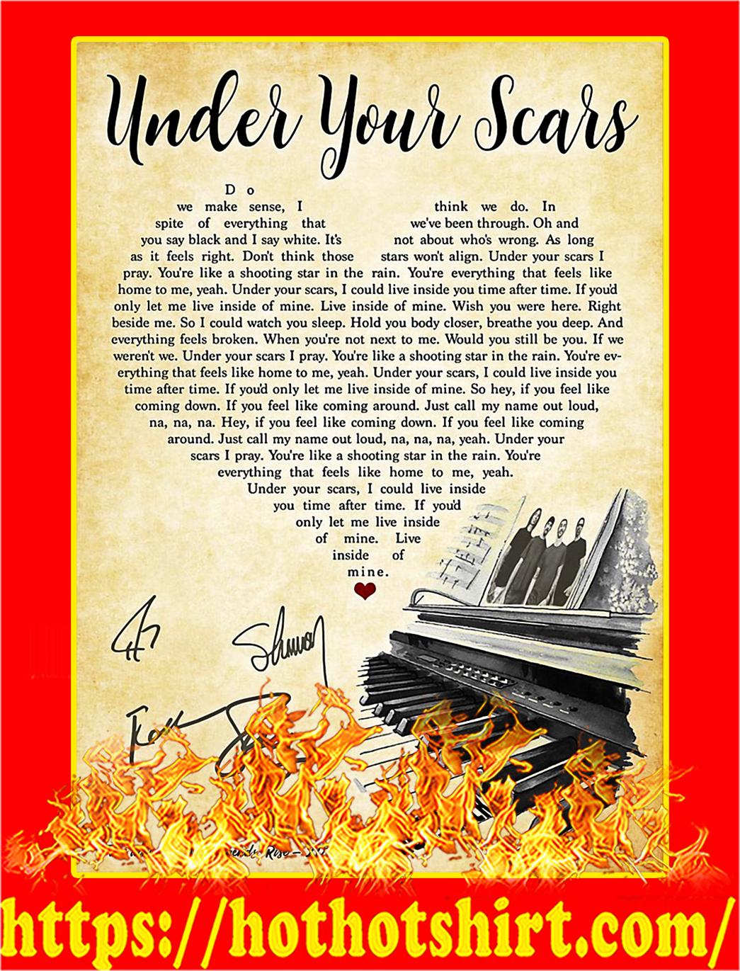 Under Your Scars Signature Poster - A4