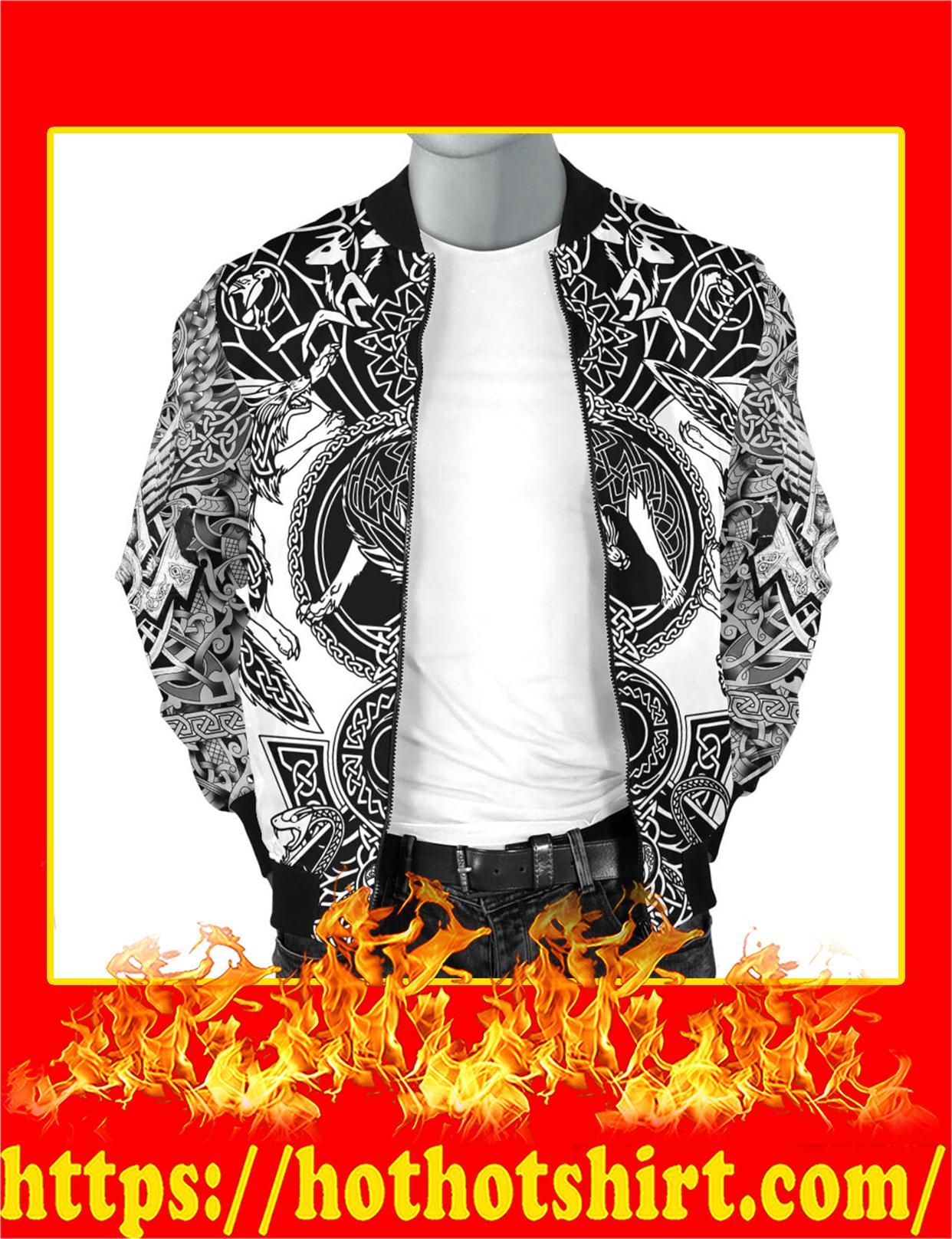 Viking Tattoo All Over Print Bomber Jacket