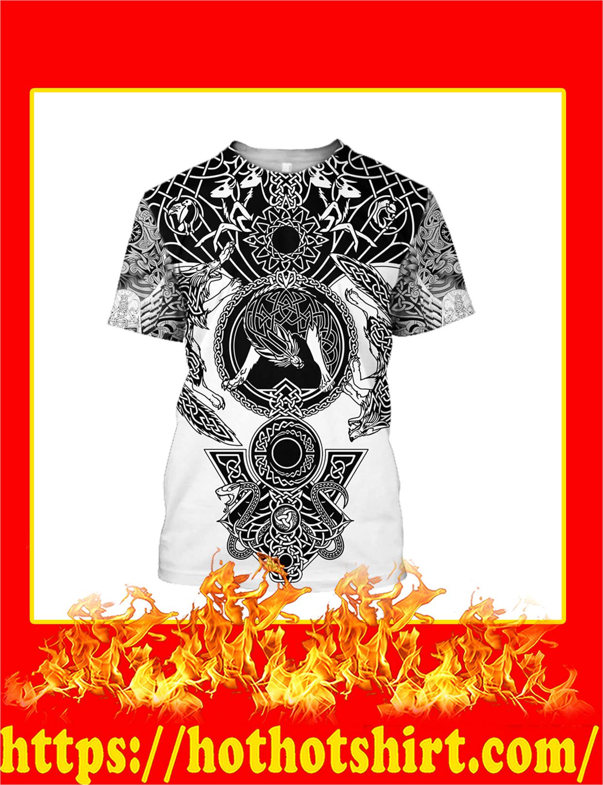 Viking Tattoo All Over Print T-Shirt