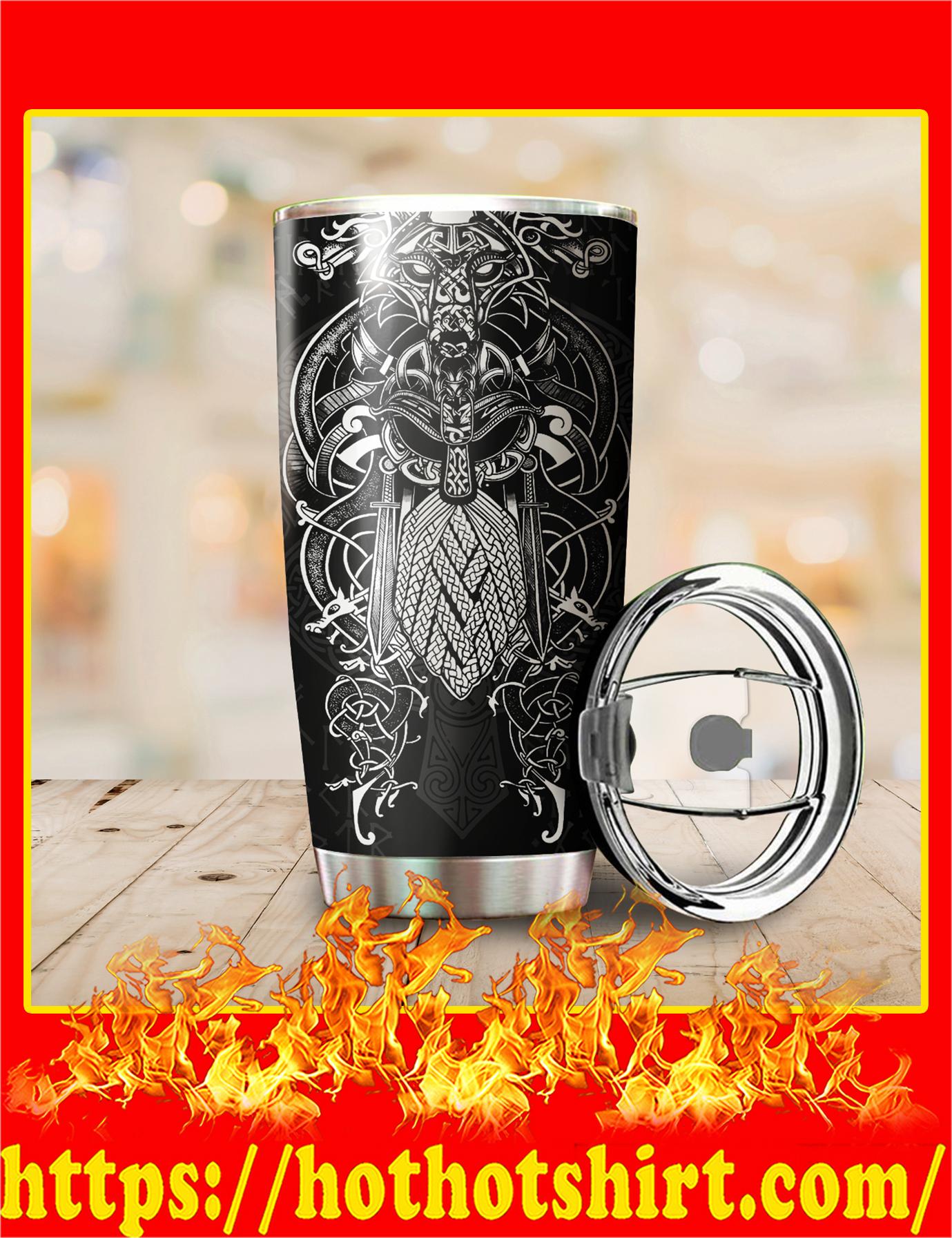 Vikings Odin Tatoo Style Tumbler - Pic 2