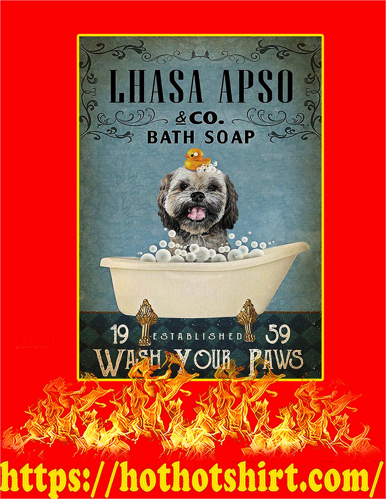 Vintage Bath Soap Lhasa Apso Poster - A3