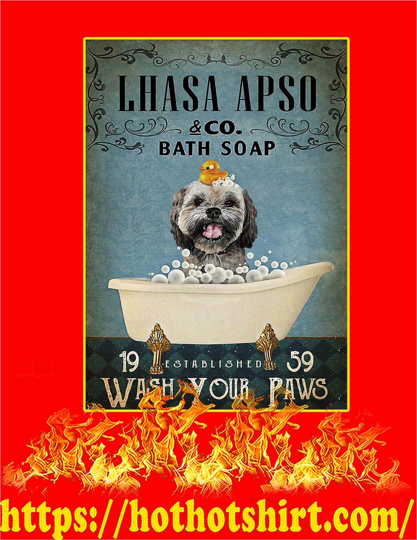 Vintage Bath Soap Lhasa Apso Poster - A4