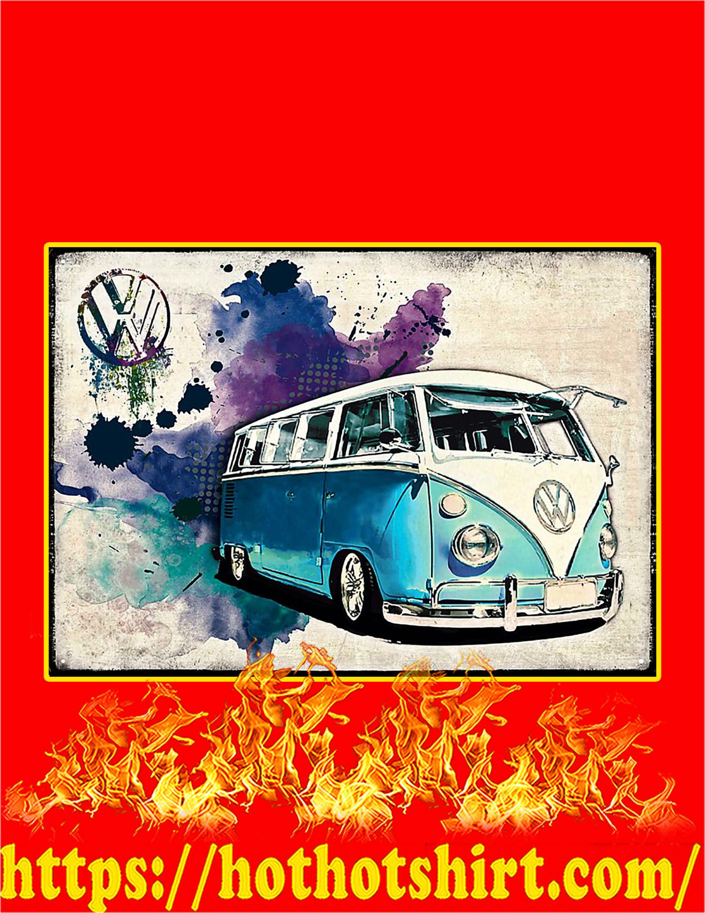 Volkswagen Van Poster - A4