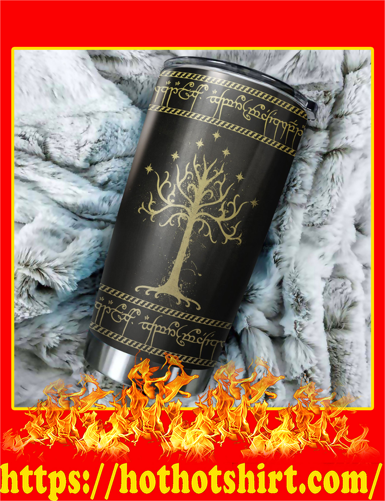 White Tree Of Gondor Art Stainless Steel Tumbler - Pic 2