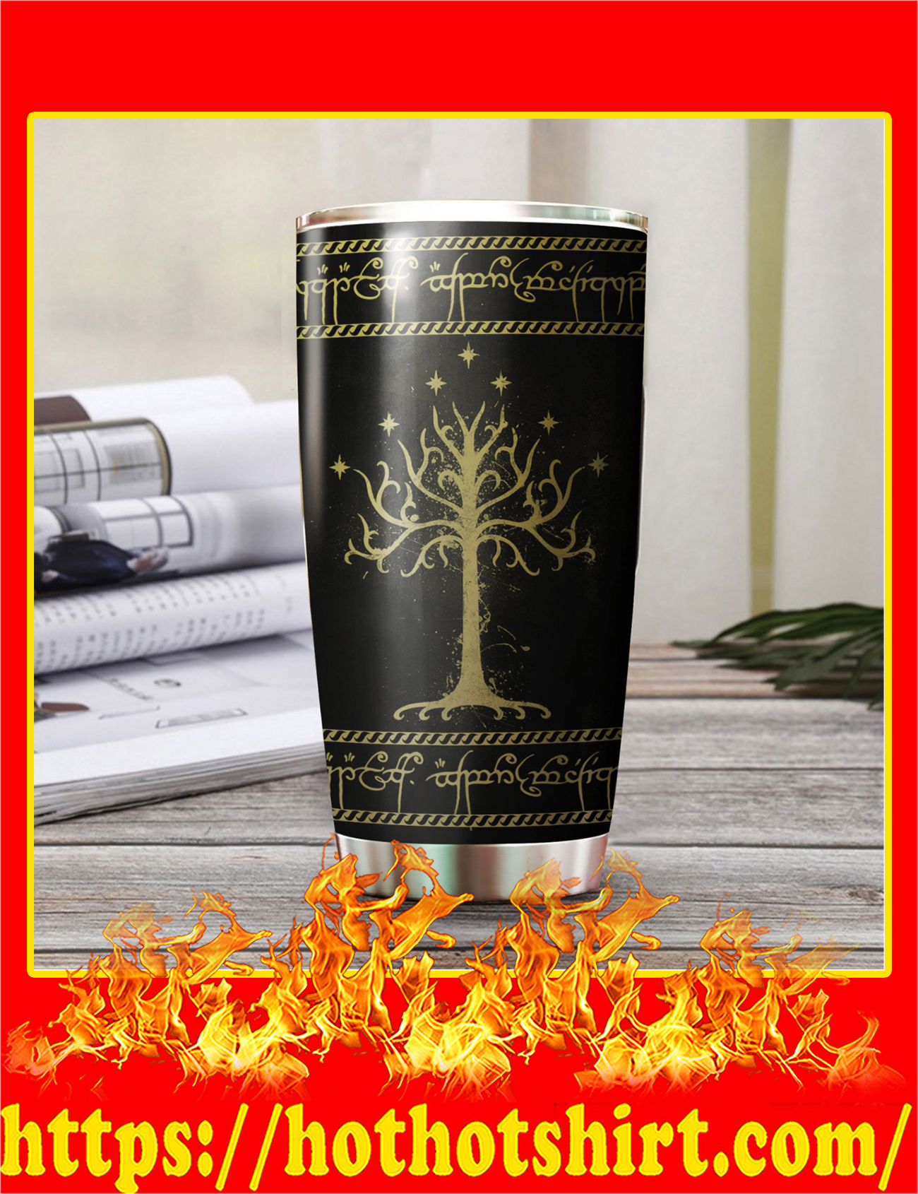 White Tree Of Gondor Art Stainless Steel Tumbler - Pic 3
